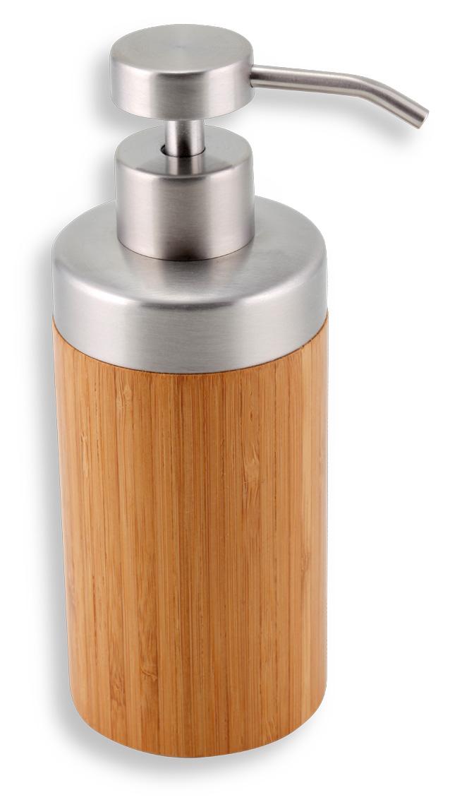 NOVASERVIS - Dávkovač mýdla na postavení BAMBUS chrom-bambus (66255/1,6)