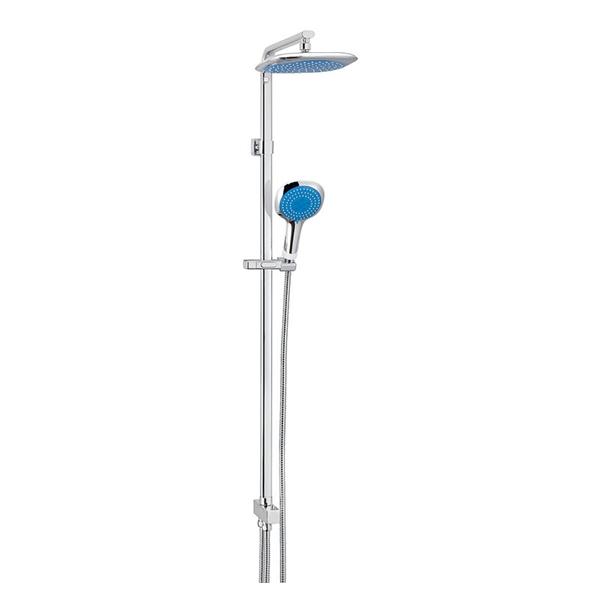 Kreiner COMFORT sprchový set, chrom, ruční sprcha modrá (K5402109)