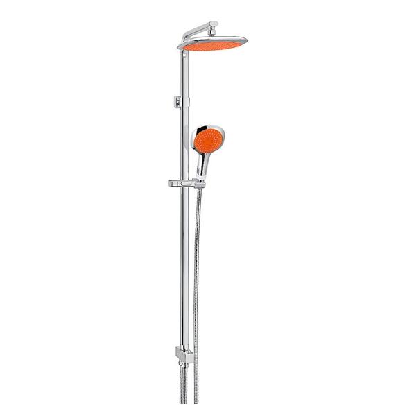 Kreiner COMFORT sprchový systém, chrom, ruční sprcha oranžová (K5402110)