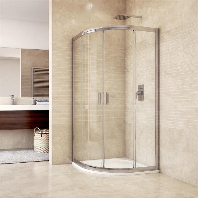 MEREO Sprchový set: sprchový kout 100x100x190 cm, R550, chrom ALU, sklo Grape, litá vanička (CK608B66HM)