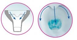 Závěsné WC Caspia NEW CLEAN bez sedátka náhrada za K100-383 (K11-0233) - CERSANIT, fotografie 12/6