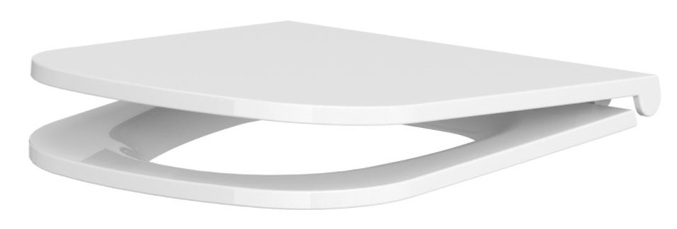 CERSANIT - WC sedátko Caspi SLIM DUR Antib SC EO s jedním tlačítkem (K98-0145)