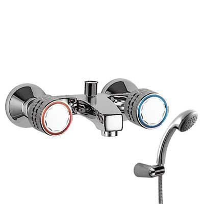 Celek vana-sprcha Ruční sprcha s nastavitelným držákem, proti usaz. vod. kamene. Flexi had (123170) Tres