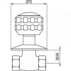 """TRES - Uzavírací ventilk zašroubování 1/2"""" (13315510C), fotografie 2/2"""