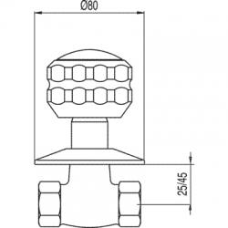 """TRES - Uzavírací ventilk zašroubování 3/4"""" (13315710F), fotografie 2/2"""