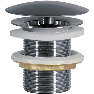Umyvadlový ventil s volným (vždy otevřeným) odtokemzátka O 72 mm (13424010)