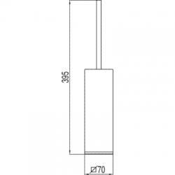 TRES - Stojící keramický držák na WC štětku (20063611), fotografie 2/2