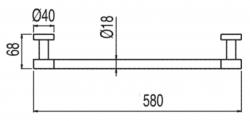 TRES - Držák na ručníky580mm. (16163602), fotografie 4/2