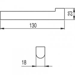 TRES - Držák na toaletní papír bez krytu (11463609), fotografie 2/2