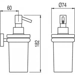 TRES - Nástěnný keramický dávkovač mýdla (16163618), fotografie 2/2
