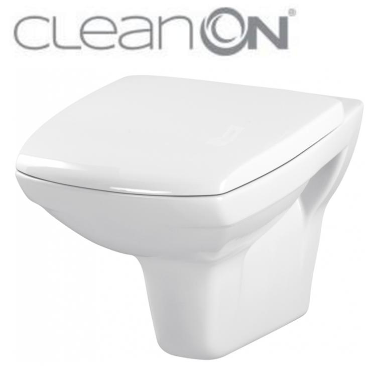 CERSANIT ZÁVĚSNÁ MÍSA CARINA NEW CLEAN ON + SEDÁTKO (K31-046+K98-0068)