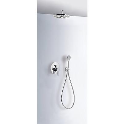 Sprchová sada vestavná s uzávěrem a regulací průtoku. · Včetně podomítkového tělesa · Pevn (01718080)