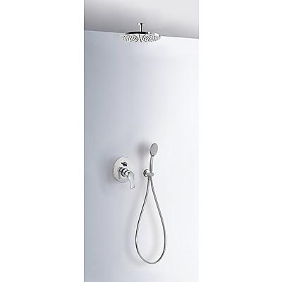 Sprchová sada vestavná s uzávěrem a regulací průtoku. · Včetně podomítkového tělesa · Pevn (06918080) Tres