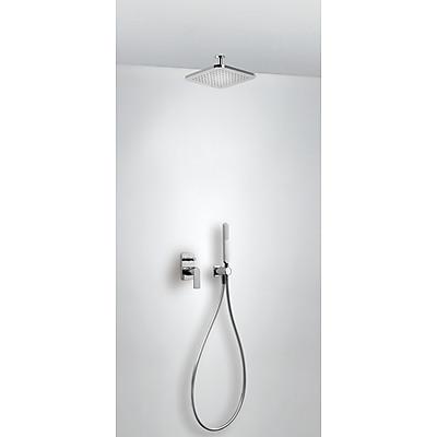 Podomítkový jednopákový sprchový sets uzávěrem a regulací průtoku. Včetně podomítkového tělesa Pevná sprcha 220x220 (20018080)