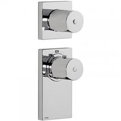TRES - Termostatická podomítková baterie BLOCKSYSTEMs uzávěrem a regulací průtoku (2-cestná). Včetně podomítkového termosta (20635299)