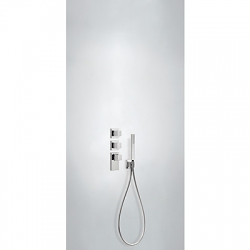 TRES - Termostatická baterie podomítková BLOCKSYSTEMs uzávěrem a regulací průtoku (3-cestná) Včetně podomítkového termostat (20625391)