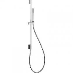 TRES - Posuvná tyč s nástěnným přívodem vodyO14mm. Délka 760mm. Ruční sprcha, proti usaz. vod. kamene (202.639.01). Flexi h (03493201)