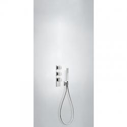 TRES - Termostatická baterie podomítková BLOCKSYSTEMs uzávěrem a regulací průtoku (4-cestná) Včetně podomítkového termostat (20625491)