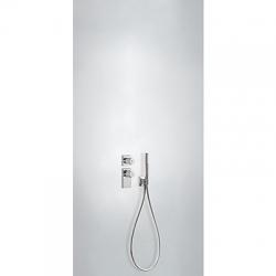 TRES - Termostatická podomítková baterie BLOCKSYSTEMs uzávěrem a regulací průtoku (2-cestná). Včetně podomítkového termosta (20635291)