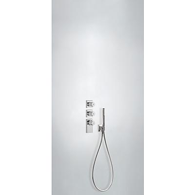 Termostatická baterie podomítková BLOCK SYSTEMs uzávěrem a regulací průtoku (3-cestná) Včetně podomítkového termostat (20635391)