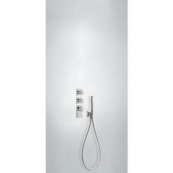 TRES - Termostatická baterie podomítková BLOCKSYSTEMs uzávěrem a regulací průtoku (3-cestná) Včetně podomítkového termostat (20635391)