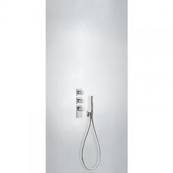 TRES - Termostatická baterie podomítková BLOCKSYSTEMs uzávěrem a regulací průtoku (4-cestná) Včetně podomítkového termostat (20635491)