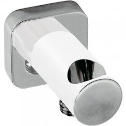 TRES - Úchyt ruční sprchy se stěnovou přípojkou vodys nástěnným vodnim přívodem (20018201BL)