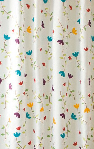 VÝPRODEJ - Sprchový závěs 180x200cm, polyester, květovaný (ZP007VYP)