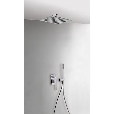 TRES - Podomítkový jednopákový sprchový set s uzávěrem a regulací průtoku.· Včetně podomítkového (20218080)