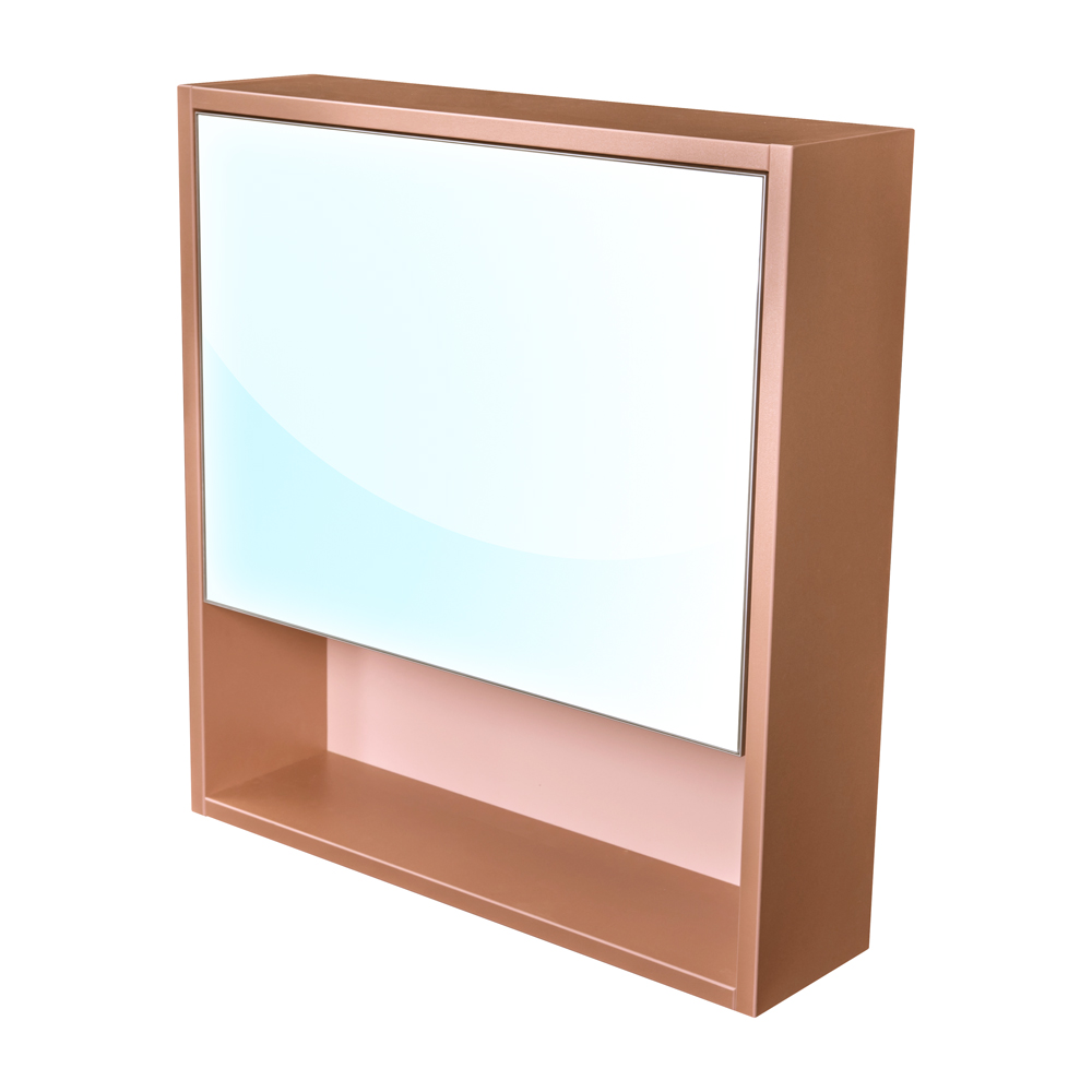 Amsterdam galerka 1x výklopné barva zrcadlo v AL rámu korpus korpus metallic měděný šíře 60 (CA.G1V.193.060)