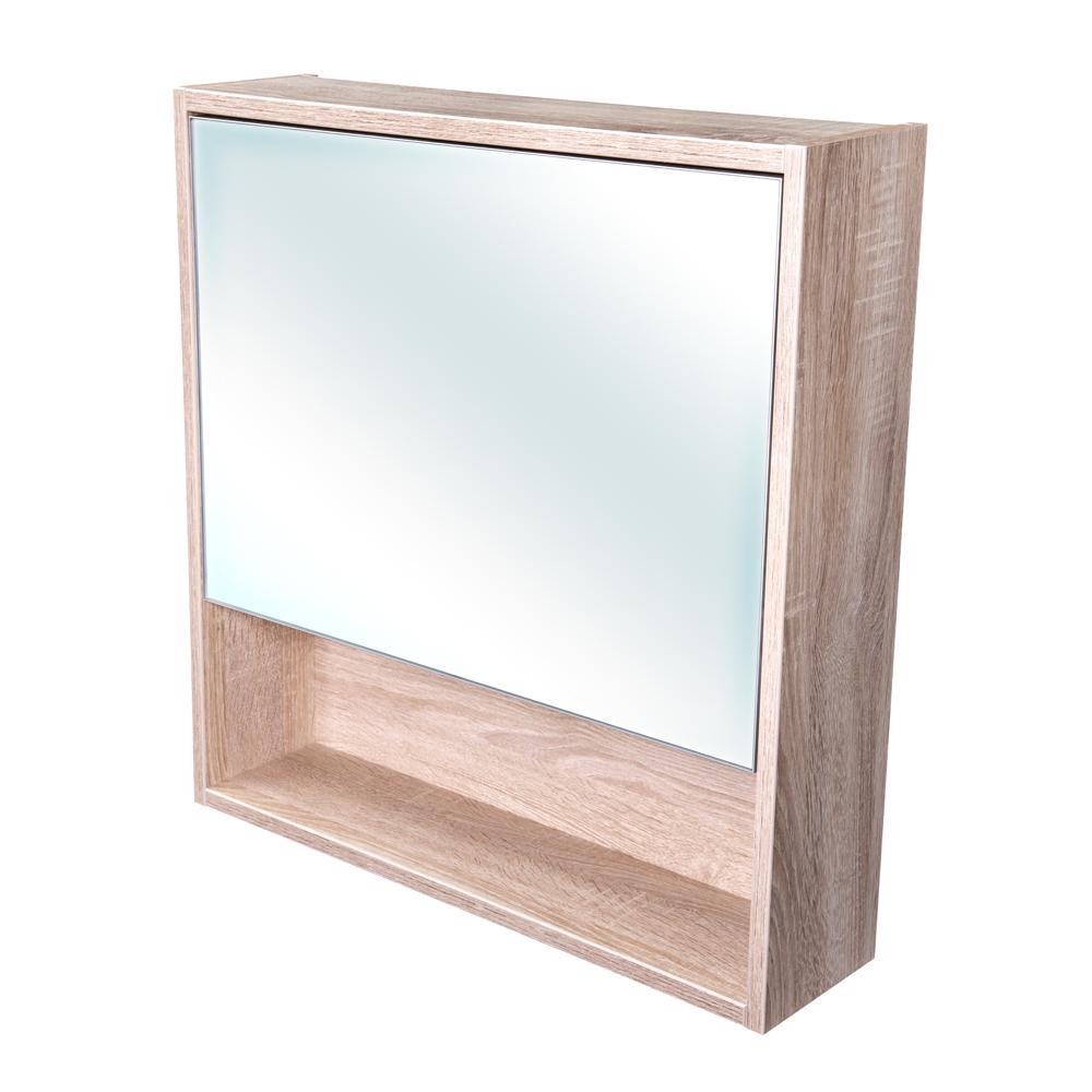 Amsterdam galerka 1x výklopné barva zrcadlo v AL rámu korpus korpus Dub bardolino šíře 60 (CA.G1V.194.060)