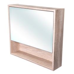 Amsterdam galerka 1x  výklopné barva zrcadlo v AL rámu korpus korpus Dub bardolino šíře 75 (CA.G1V.194.075) - CEDERIKA