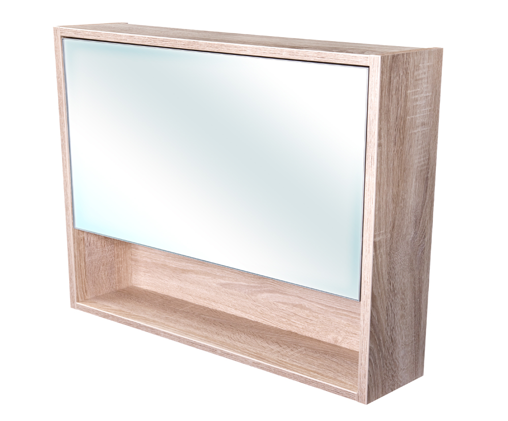 CEDERIKA - Amsterdam galerka 1x  výklopné barva zrcadlo v AL rámu korpus korpus Dub bardolino šíře 90 (CA.G1V.194.090)