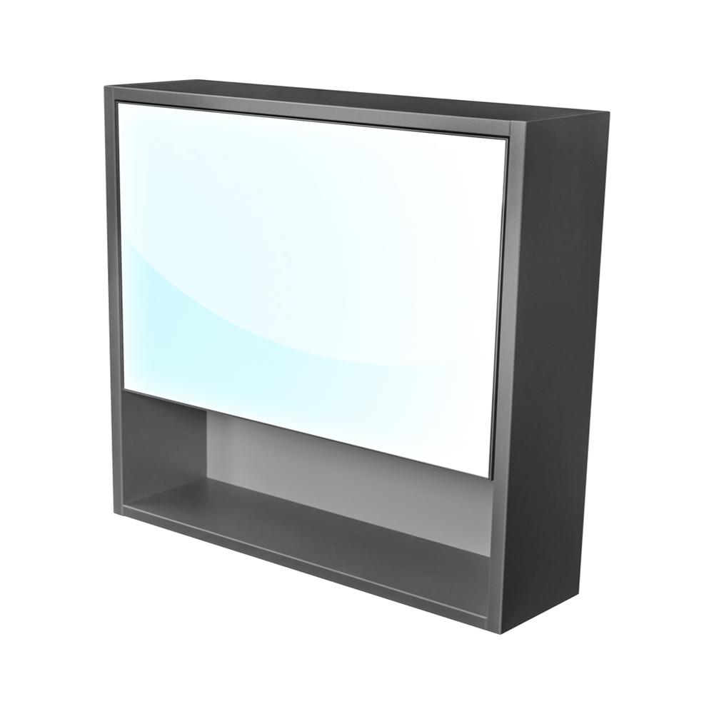 CEDERIKA - Amsterdam galerka 1x  výklopné barva zrcadlo v AL rámu korpus korpus lávově šedá šíře 75 (CA.G1V.192.075)