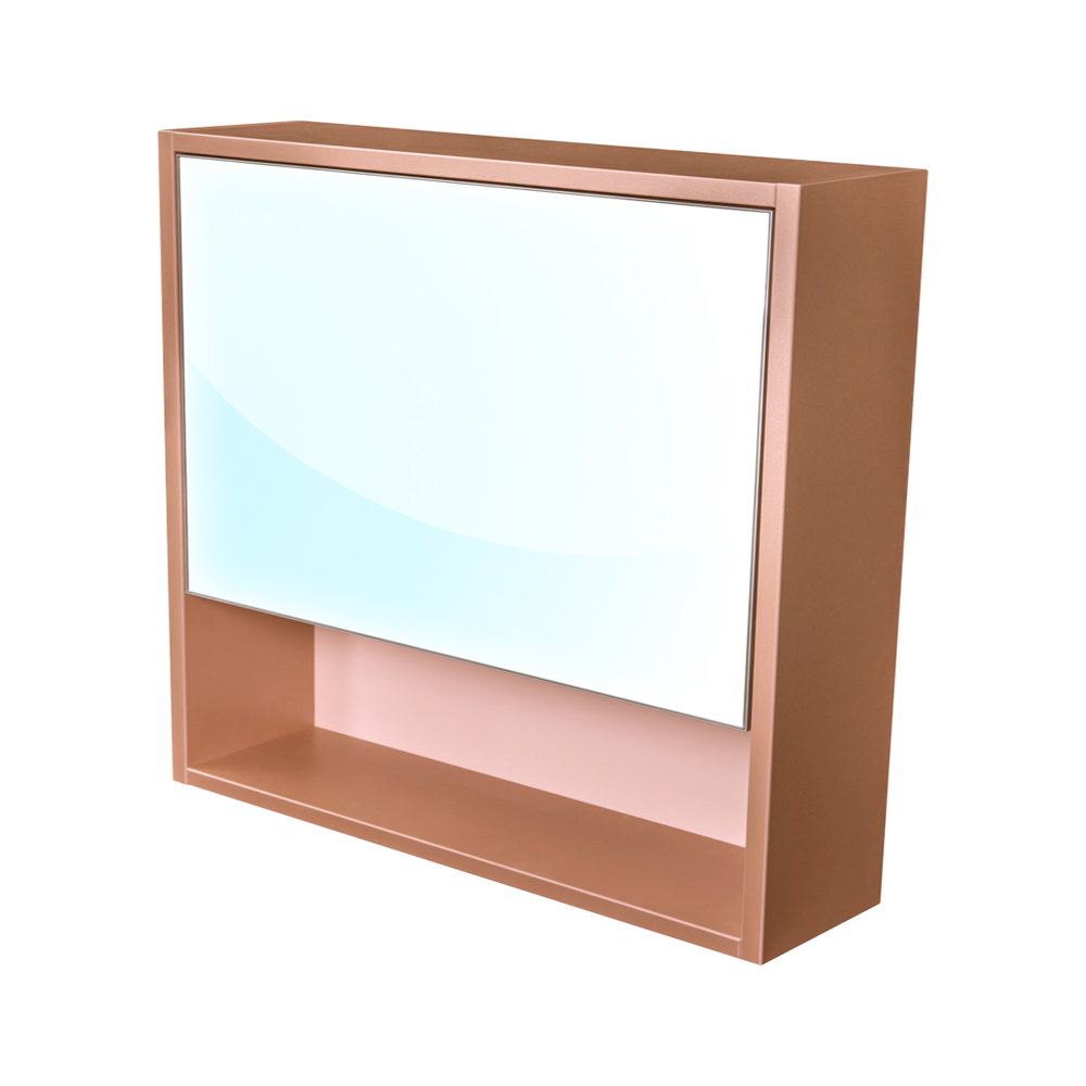 Amsterdam galerka 1x výklopné barva zrcadlo v AL rámu korpus korpus metallic měděný šíře 75 (CA.G1V.193.075)