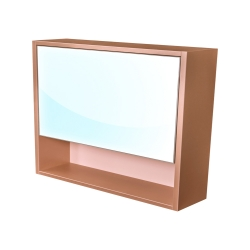Amsterdam galerka 1x  výklopné barva zrcadlo v AL rámu korpus korpus metallic měděný šíře 90 (CA.G1V.193.090) - CEDERIKA