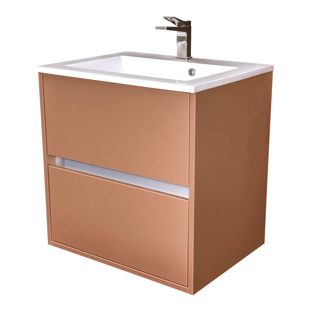 Amsterdam umyvadlová skříňka 2x šuplík barva metallic měděný korpus korpus metallic měděný šíře 60 (CA.U2B.133.060)