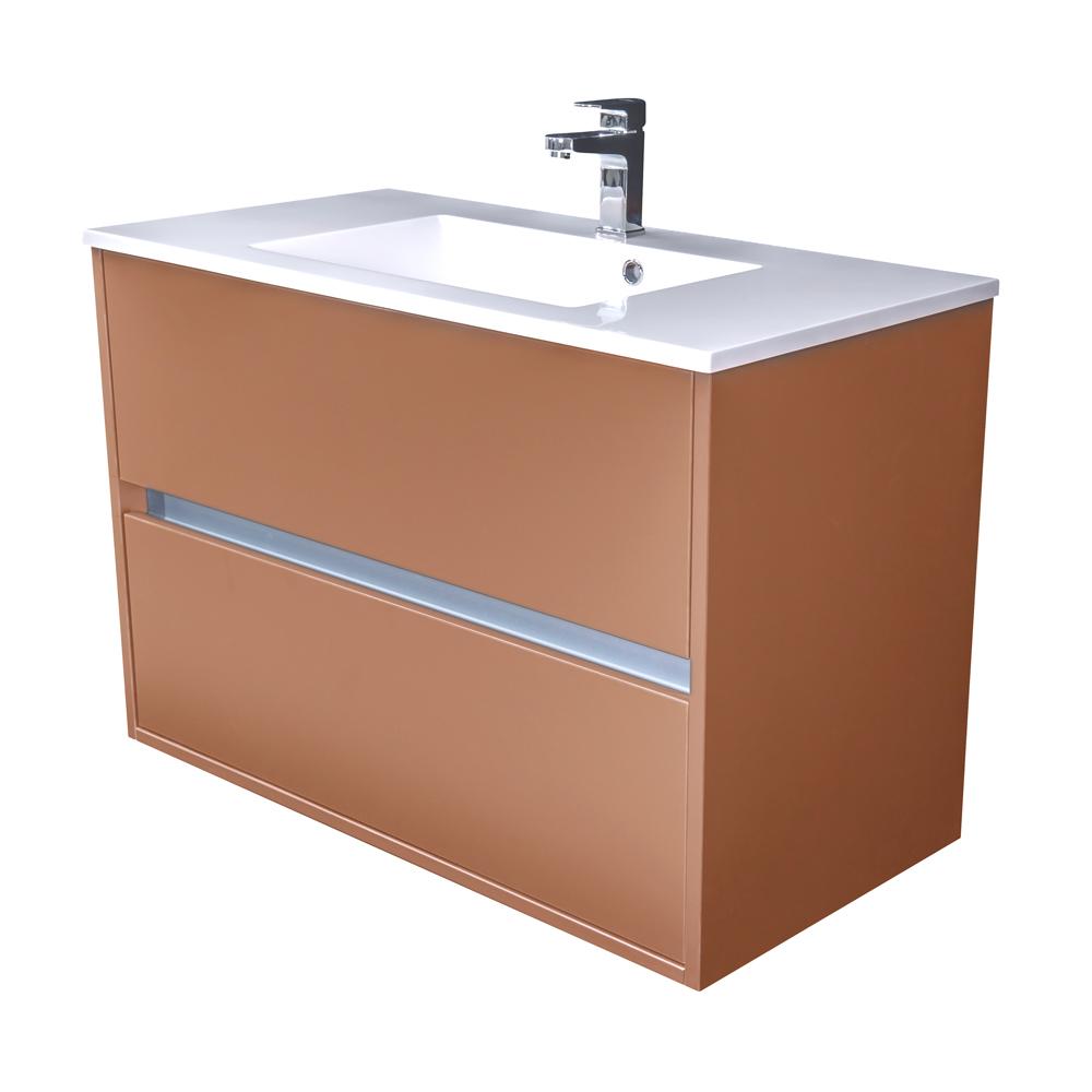 Amsterdam umyvadlová skříňka 2x šuplík barva metallic měděný korpus korpus metallic měděný šíře 90 (CA.U2B.133.090)