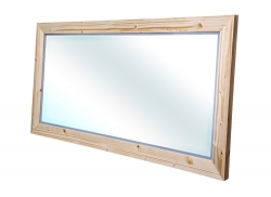 CEDERIKA - Bern  zrcadlo masiv smrk natur lak šíře 120  (CB.ZR0.101.120)