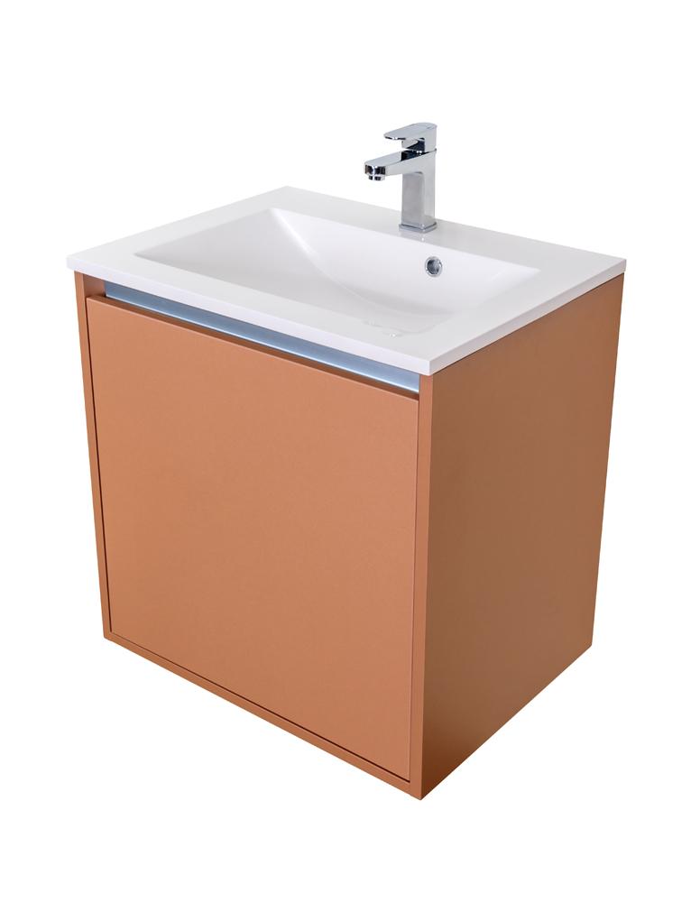 CEDERIKA - Amsterdam umyvadlová skříňka 1x šuplík barva metallic měděný korpus korpus metallic měděný šíře 60 (CA.U1B.133.060)