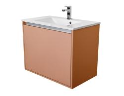 Amsterdam umyvadlová skříňka 1x šuplík barva metallic měděný korpus korpus metallic měděný šíře 75 (CA.U1B.133.075) - CEDERIKA