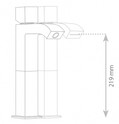 VÝPRODEJ - TRES CUADRO-TRES baterie umyvadlová stojánková, s prodlužkou (107107VYP), fotografie 6/3