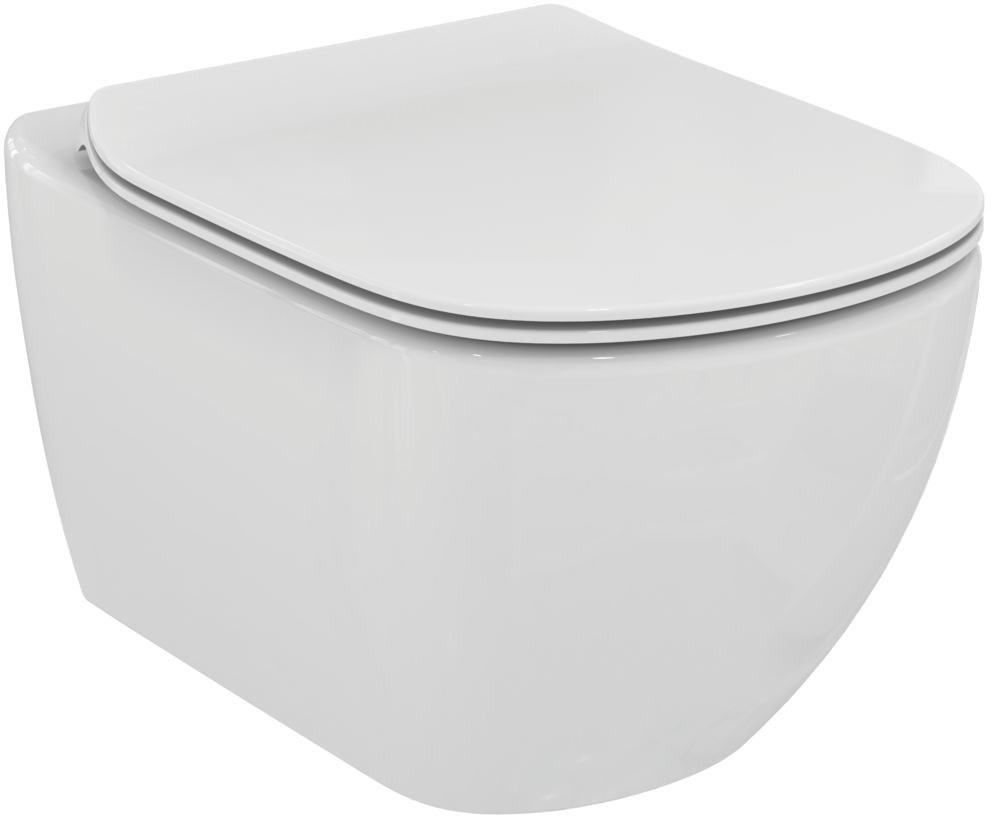 Ideal Standard Tesi wc mísa závěsná AQUABLADE vč.sedátka Soft-Close ultra ploché T354601 (T354601)