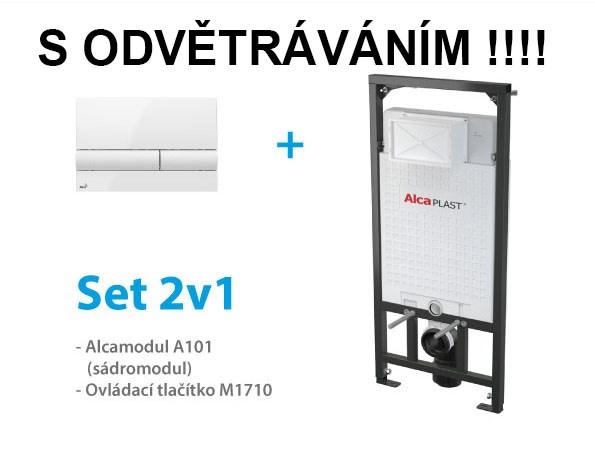 Set ALCAPLAST S ODVĚTRÁNÍM 2v1 AM101/1120V,M1710 A101-V-SET2V1 (A101-V-SET2V1)