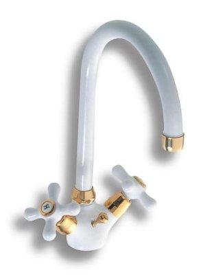 NOVASERVIS - Dřezová baterie Classic bílá-zlato (8113,3)