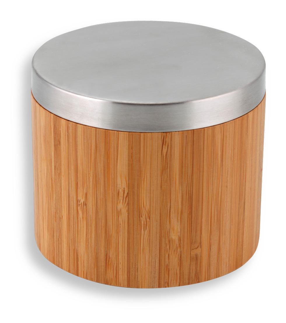 NOVASERVIS - Dóza na kosmetické tampony BAMBUS chrom-bambus (66222,6)