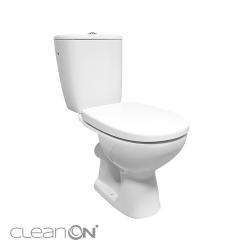 CERSANIT - WC KOMBI 613 ARTECO 010 3/5 NEW CLEANON + DUROPLAST SEDÁTKO SOFTCLOSE (K667-052), fotografie 2/8