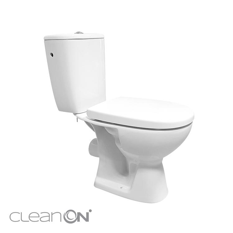 CERSANIT - WC KOMBI 613 ARTECO 010 3/5 NEW CLEANON + DUROPLAST SEDÁTKO SOFTCLOSE (K667-052), fotografie 8/8