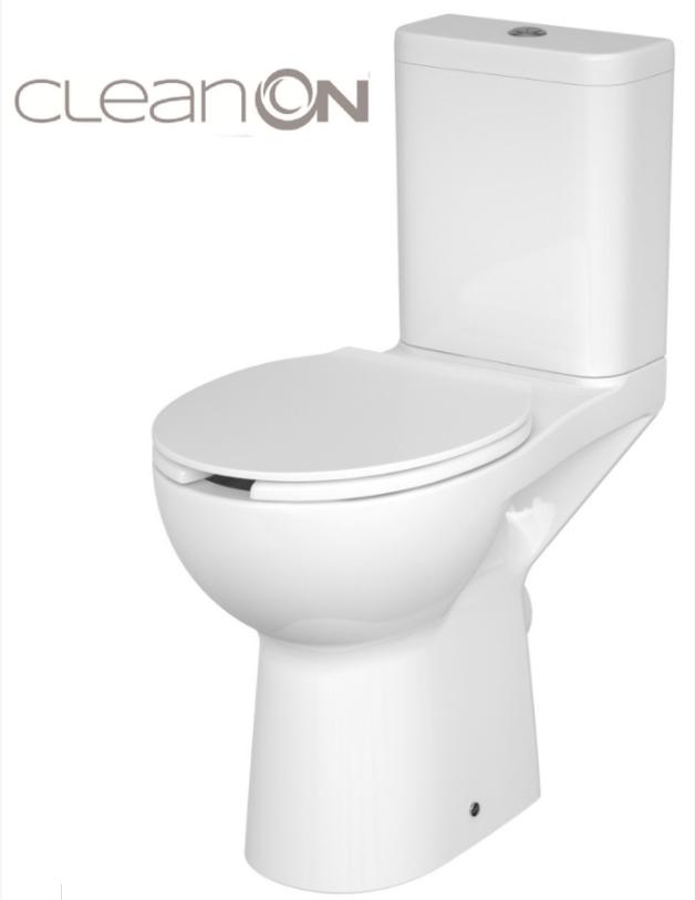 WC KOMPAKTNÍ ETIUDA NEW CLEANON 010 3 / 6L Invalidní (K100-387) CERSANIT