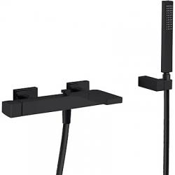 TRES - Jednopáková baterie pro vanu-sprchuRuční sprcha snastavitelným držákem, proti usaz. vod. kamene. Flexi hadice SATIN. (20217001NM)